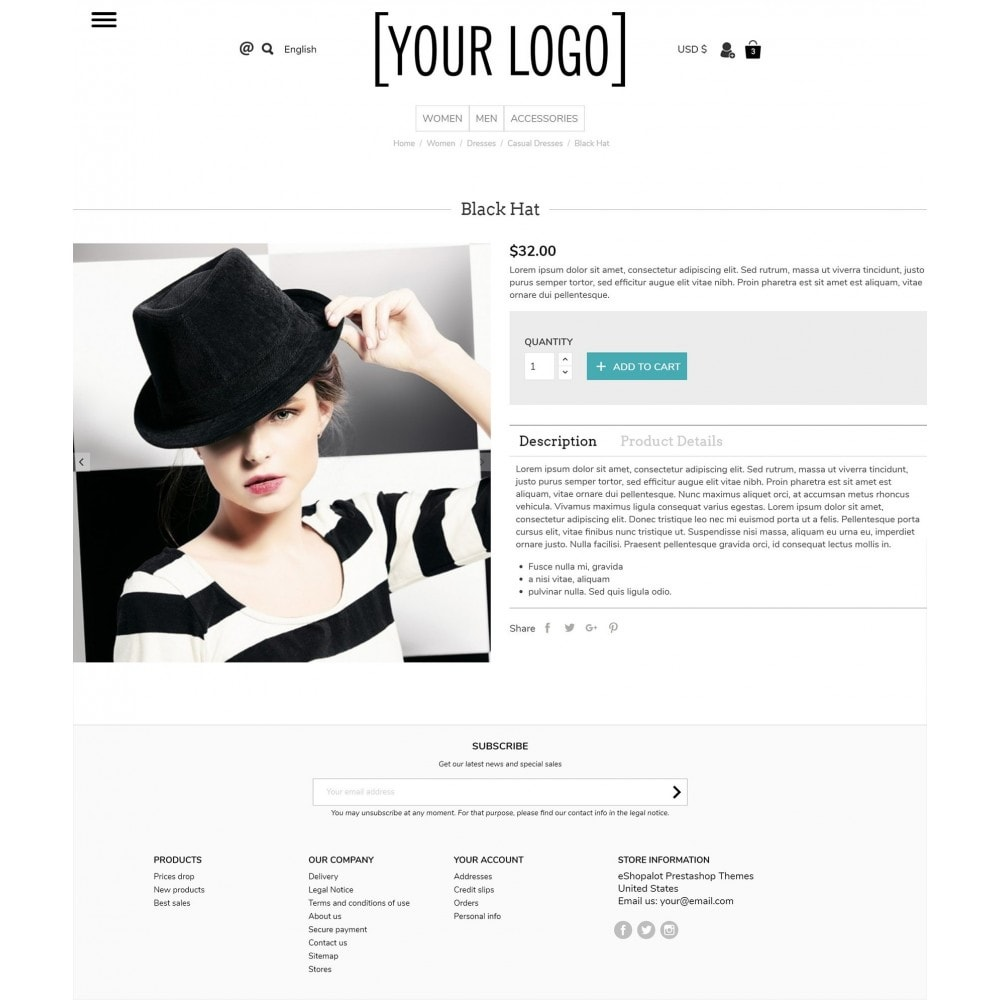 theme - Bijoux & Accessoires - Ultramodern with pull-out side menus - 4