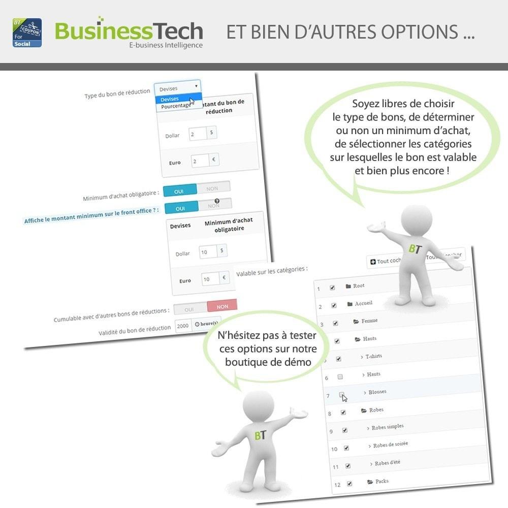 module - Bons de réduction sur les réseaux sociaux - Fan Coupon pour LE Réseau Social - 5