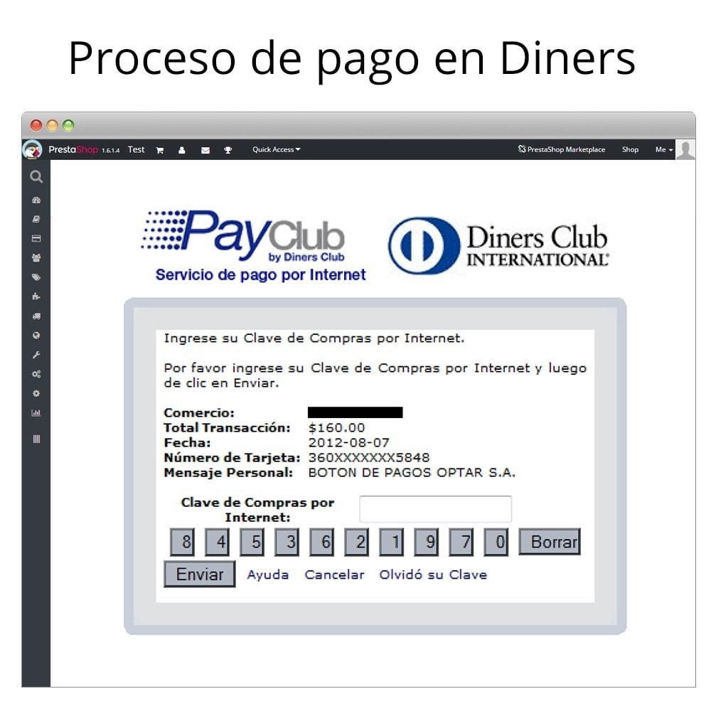 module - Creditcardbetaling of Walletbetaling - Interdin PayClub By Diners Club - 8