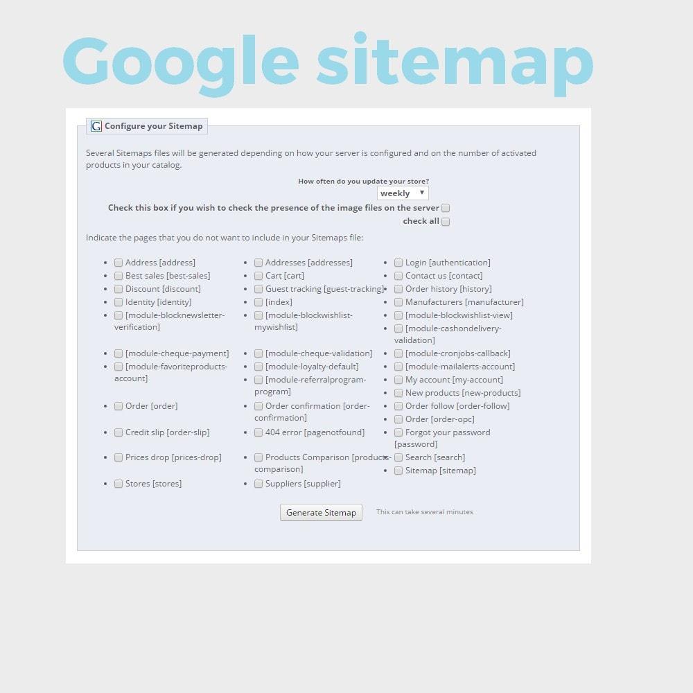 module - SEO (référencement naturel) - Google sitemap - 1