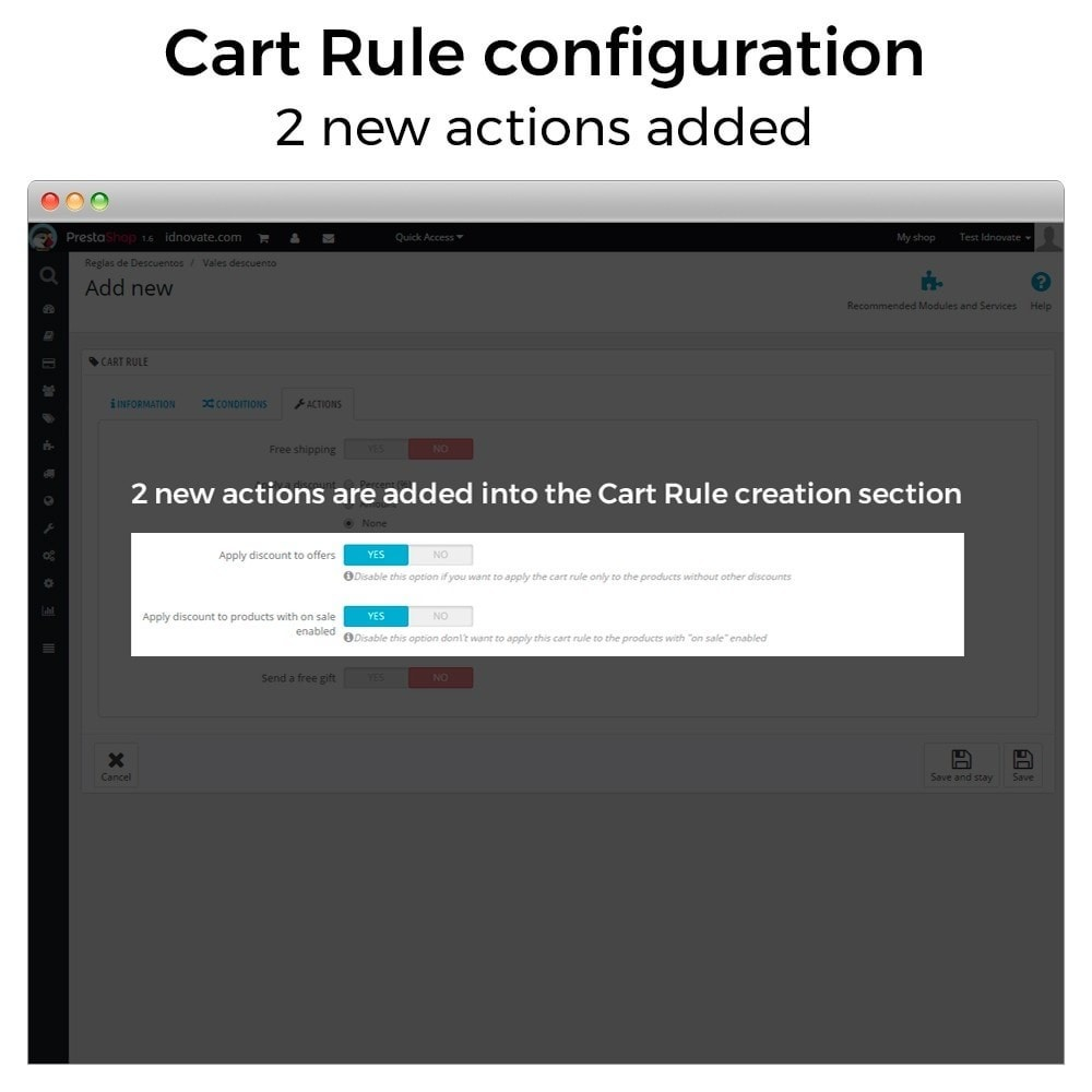 module - Promozioni & Regali - Conditional Cart Rules (without offers, on sale...) - 2
