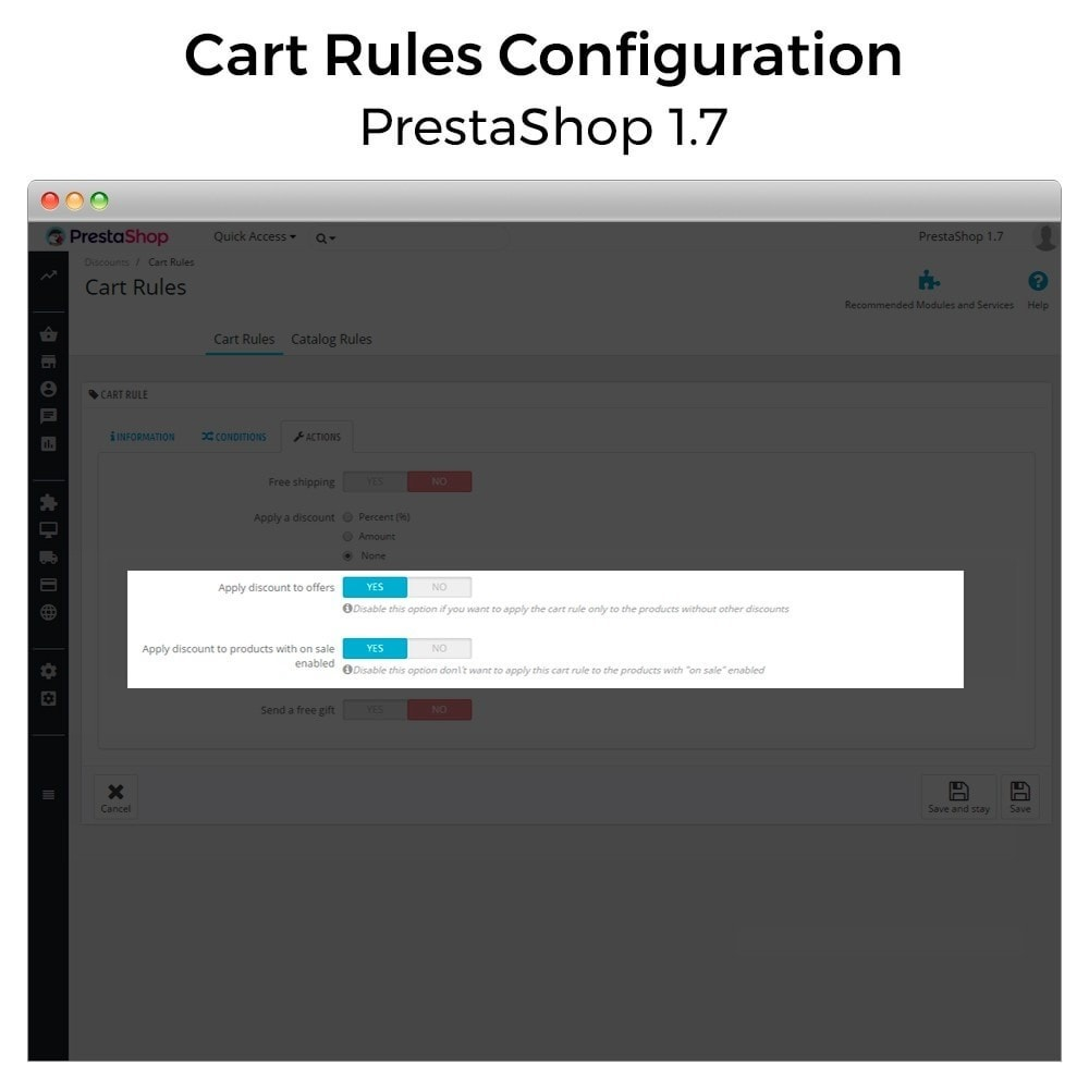 module - Акции и Подарки - Conditional Cart Rules (without offers, on sale...) - 9