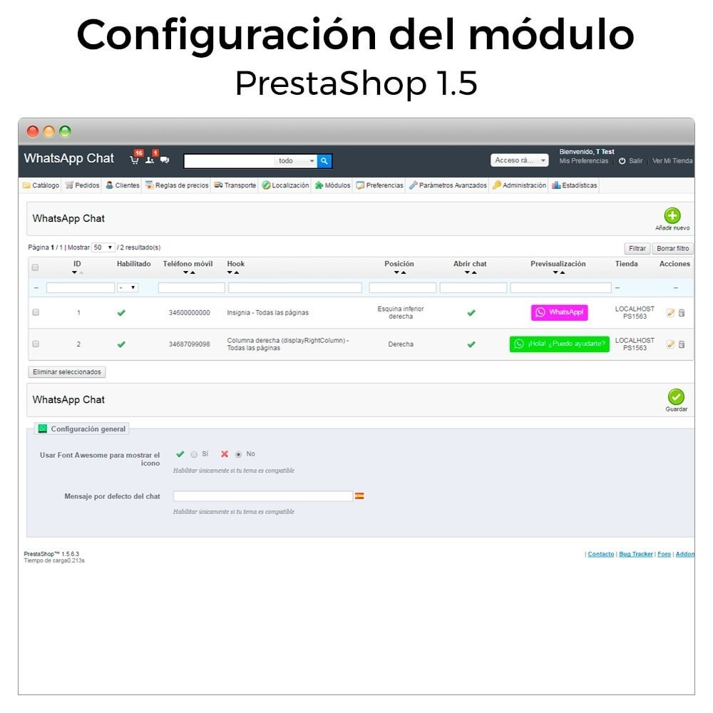 module - Asistencia & Chat online - WhatsApp - Chat con clientes y WhatsApp para Negocios - 17