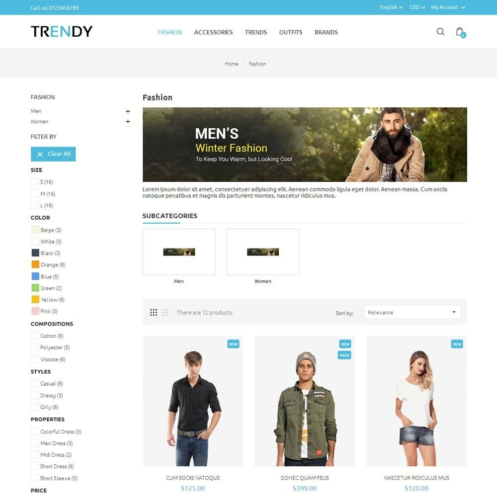 theme - Мода и обувь - Trendy Fashion Store - 3