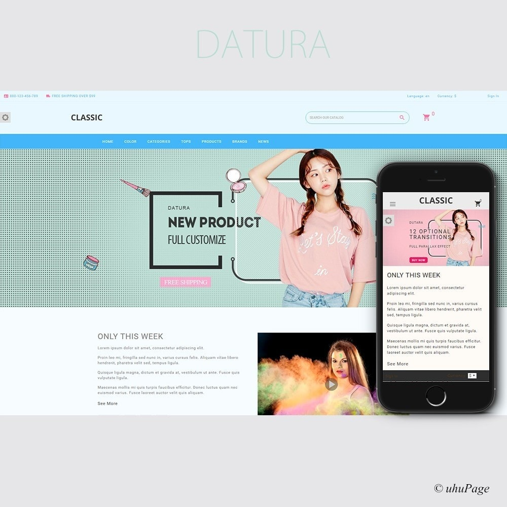 theme - Health & Beauty - Datura Cosmetic store - 1