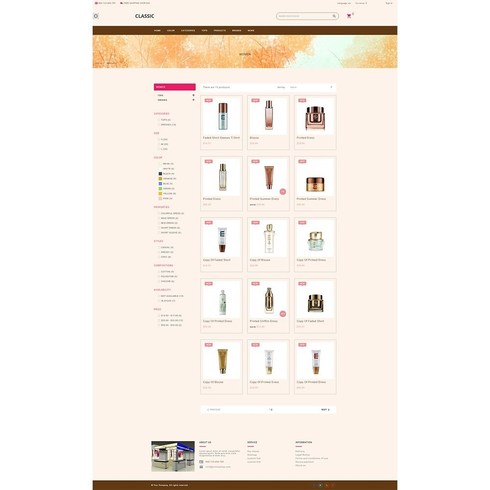 theme - Health & Beauty - Datura Cosmetic store - 3
