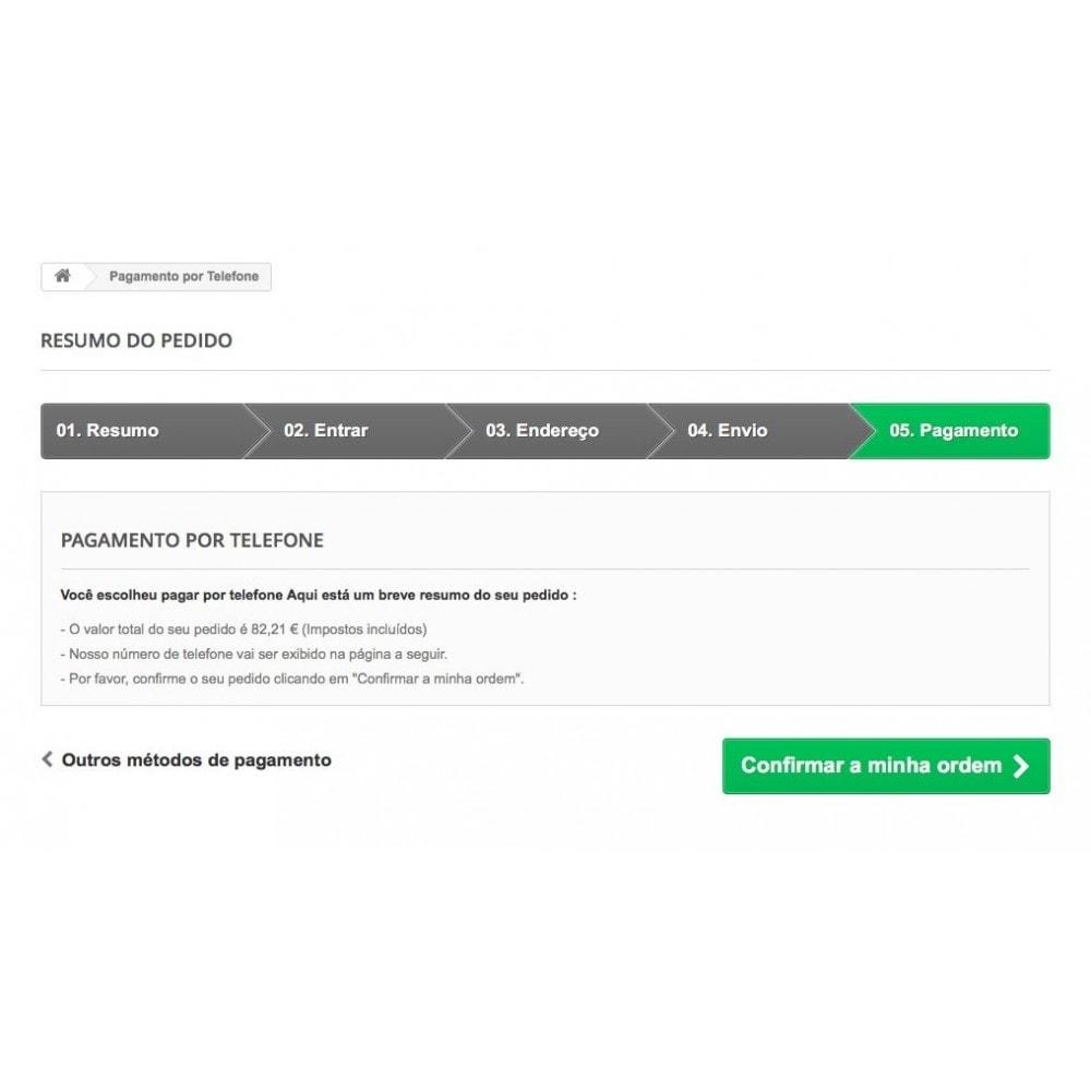 module - Formas de Pagamento Alternativas - Pagamento por Telefone - 5
