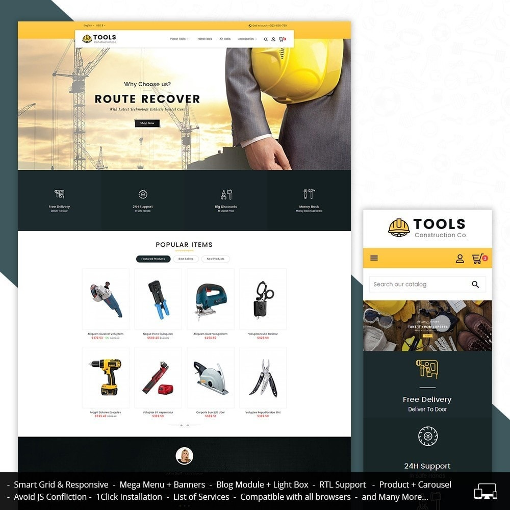 theme - Дом и сад - Construction Tools Store - 1