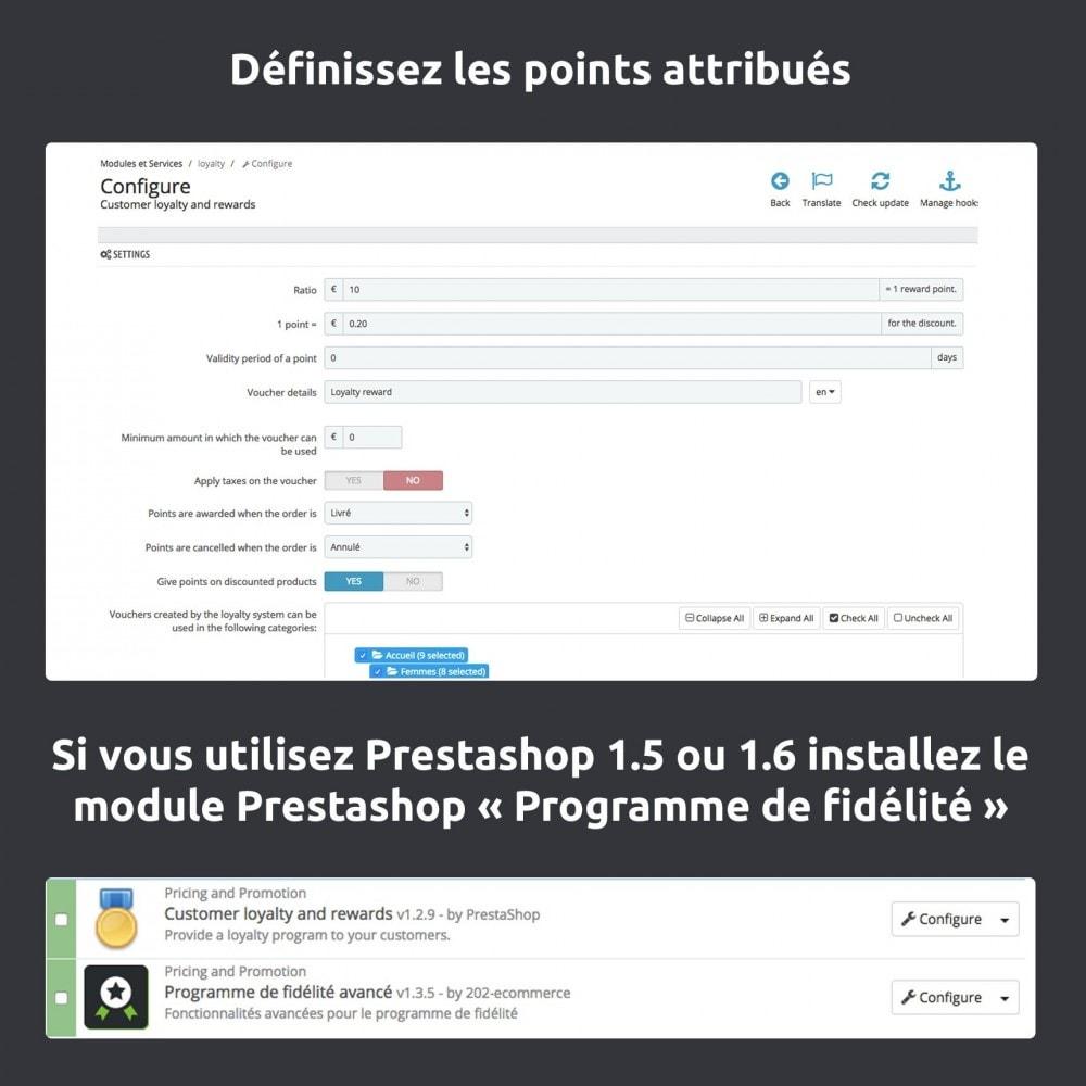 module - Fidélisation & Parrainage - Programme de fidélité avancé - 1.5, 1.6 & 1.7 - 4