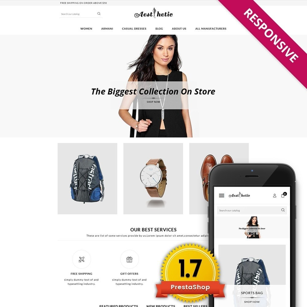 theme - Moda & Calzature - Aesthetic - Multi Store - 1