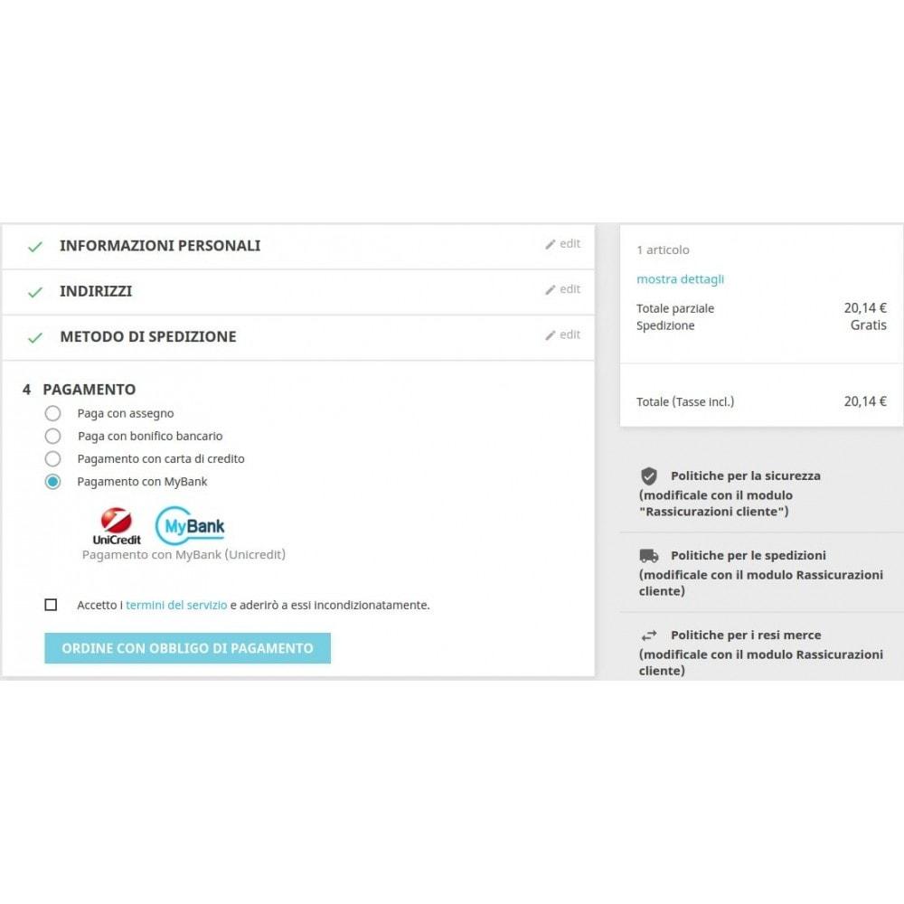 module - Pagamento con Carta di Credito o Wallet - Pagamento PagOnline Imprese Unicredit - 4