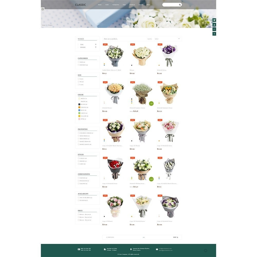theme - Gifts, Flowers & Celebrations - Fordia Flower Store - 6