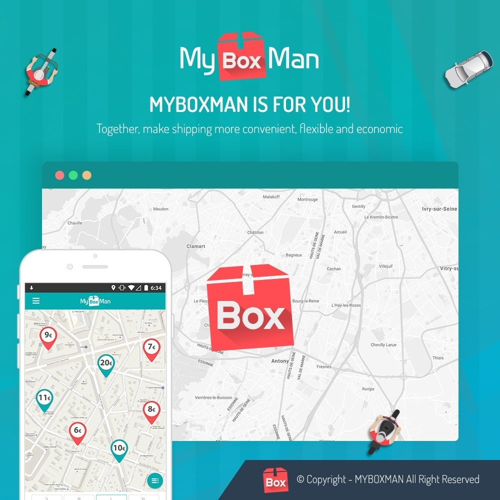 module - Shipping Carriers - MyBoxMan - Express local deliveries 7/7 - 1