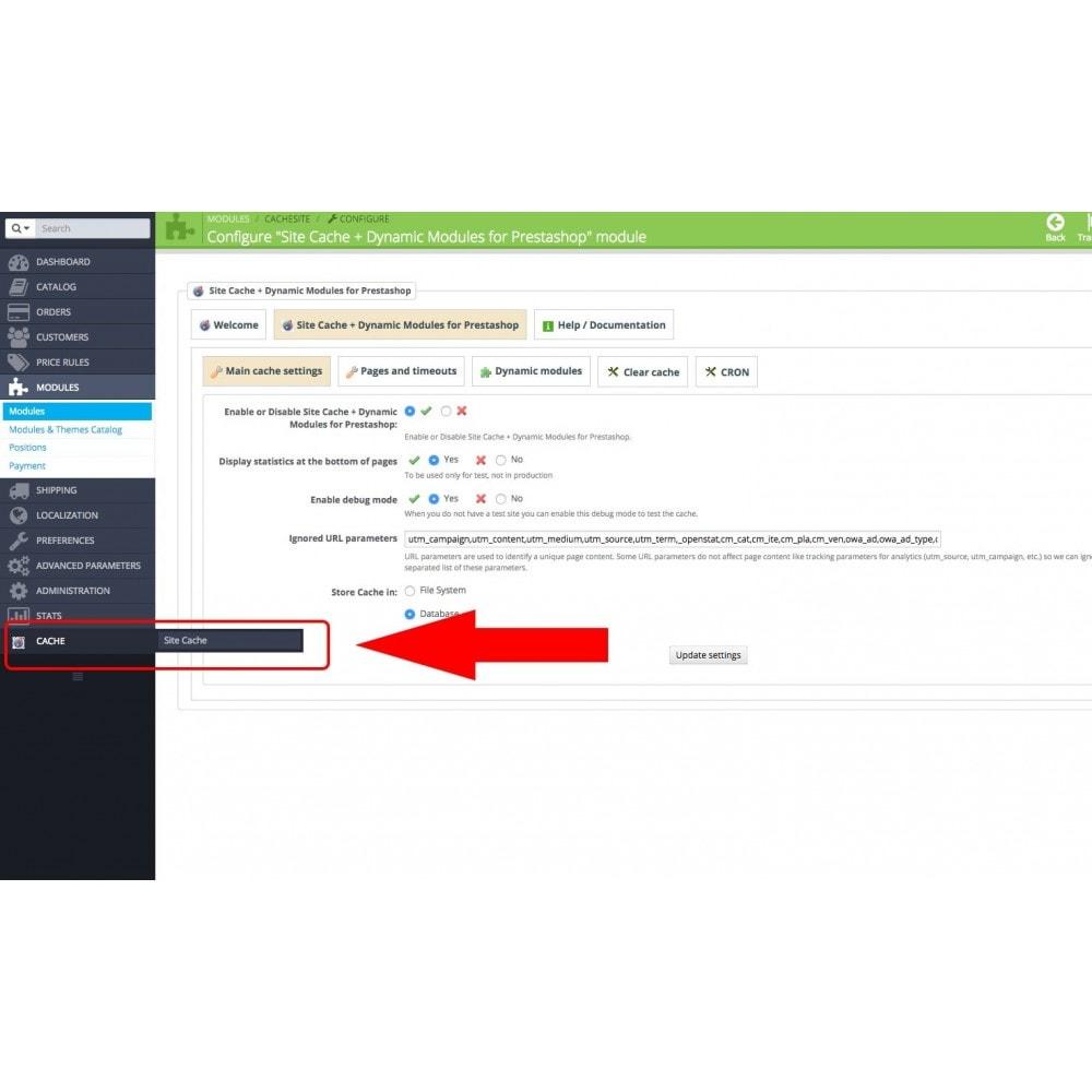module - Website performantie - Site Cache + Dynamic Hooks - 5
