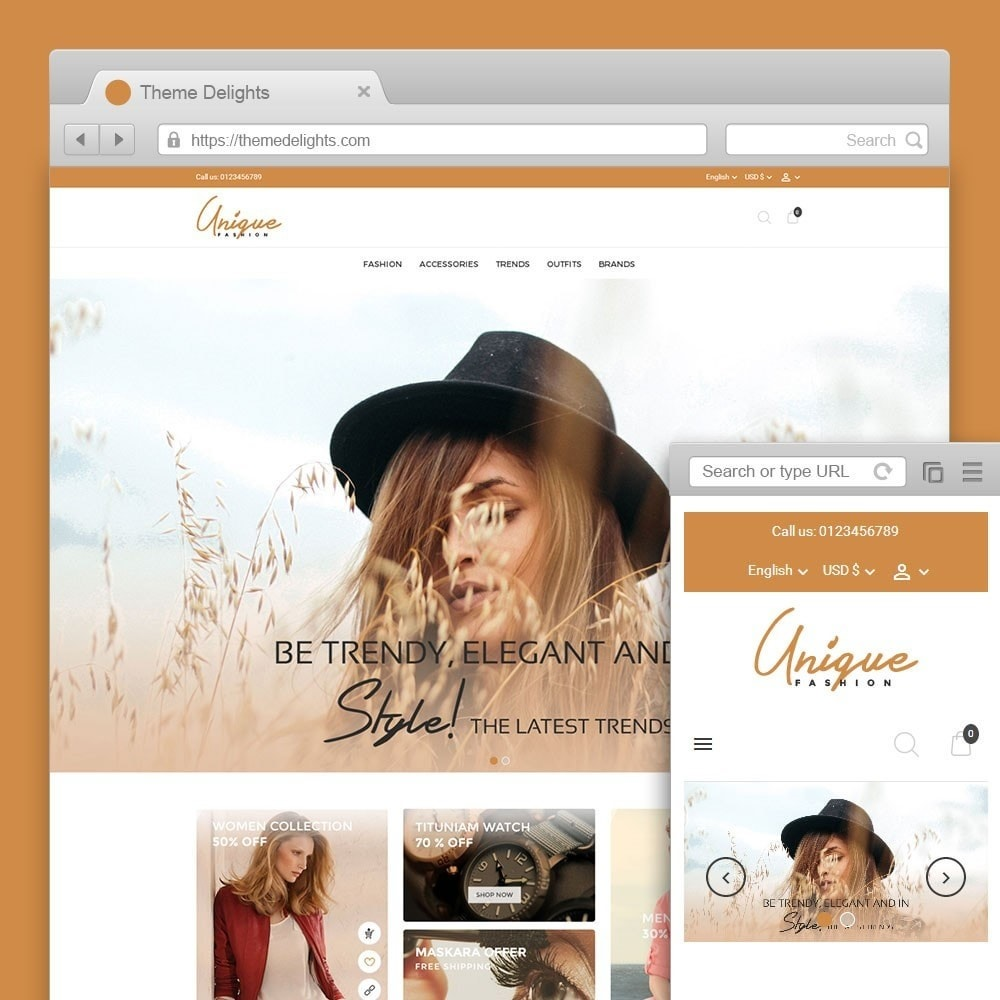 theme - Мода и обувь - Unique Fashion Store - 1
