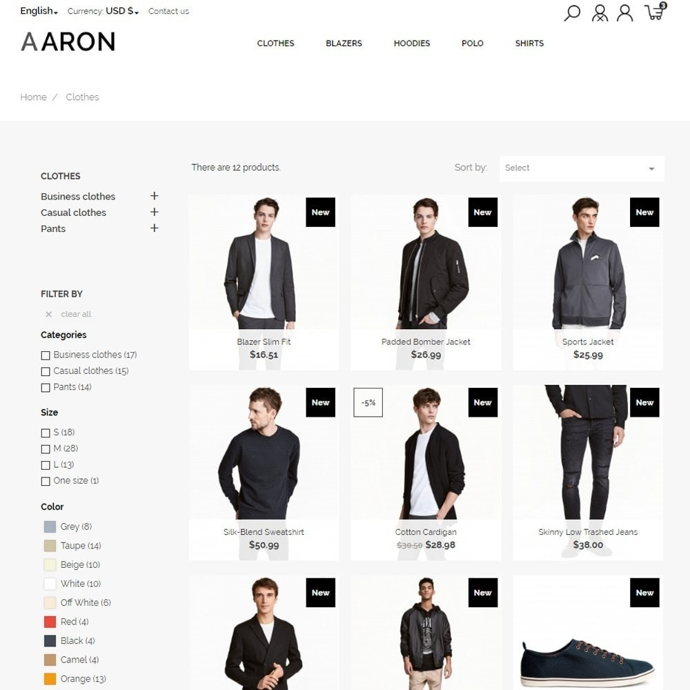theme - Moda & Calzature - Aaron Men's Wear - 6