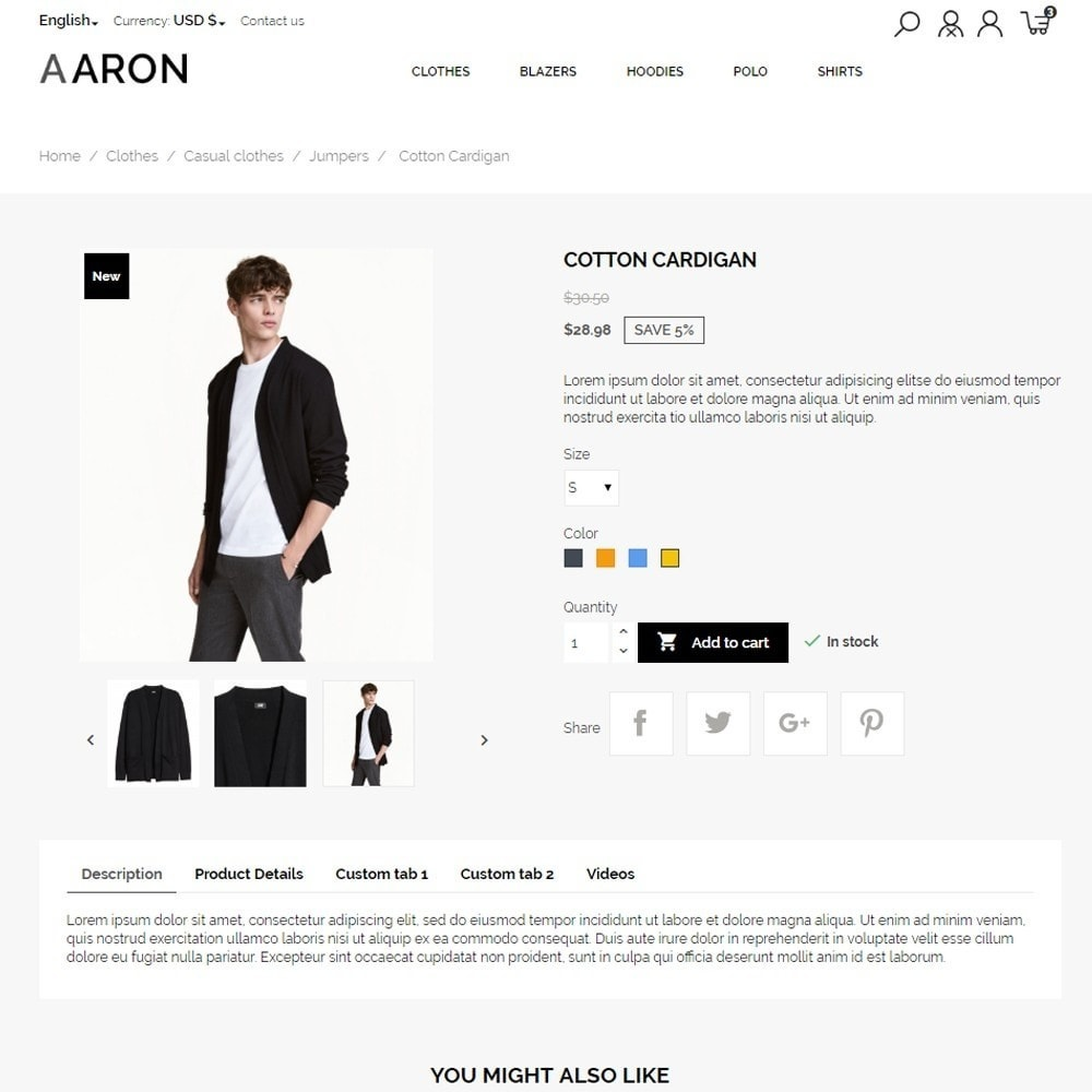 theme - Moda & Calzature - Aaron Men's Wear - 7