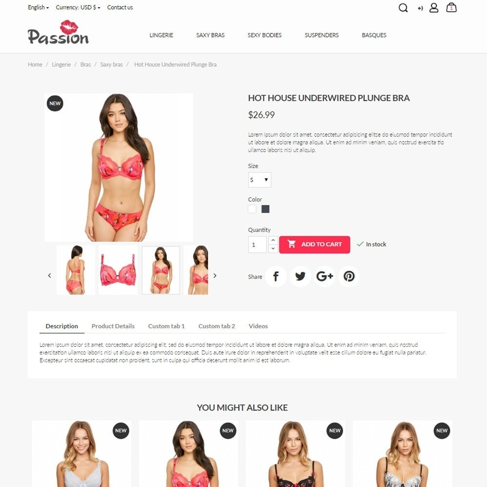 theme - Lenceria y Adultos - Passion - Lingerie Shop - 5