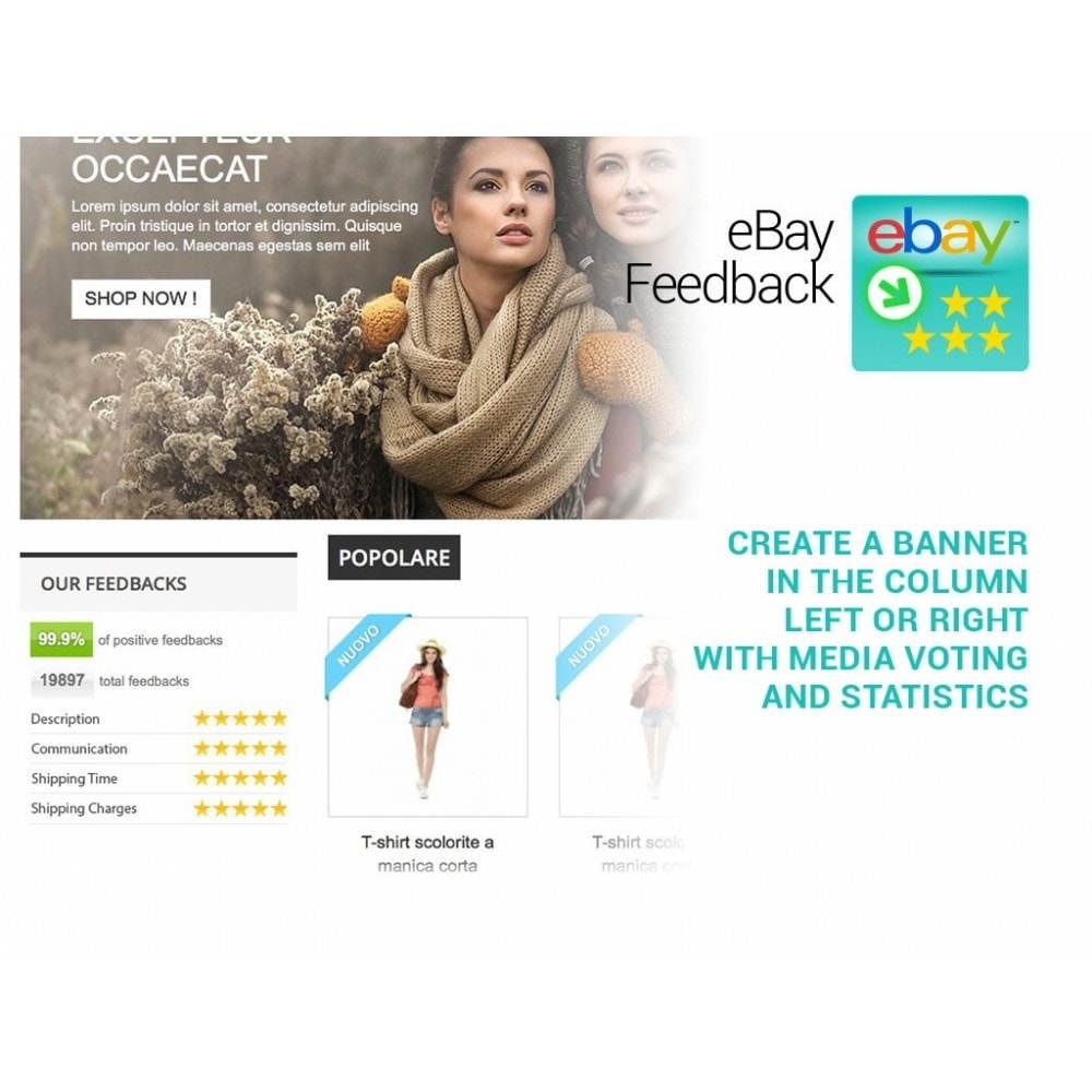 module - Отзывы клиентов - import eBay Feedback on Prestashop - 3