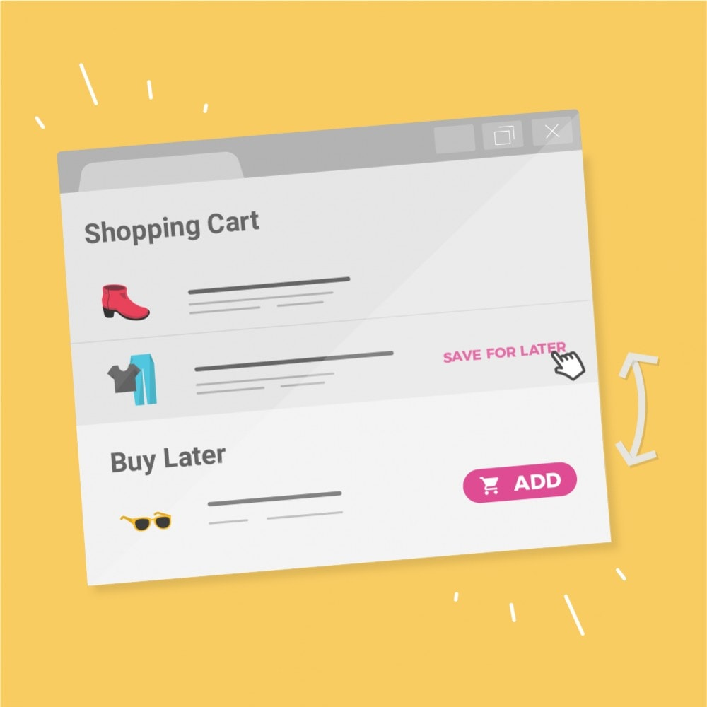 module - Whishlist & Gift Card - Buy Later (Save for later) - 1