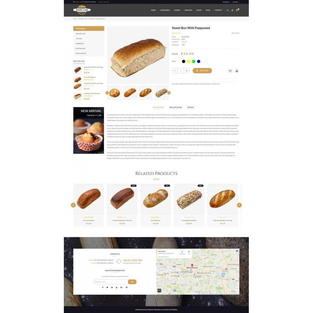 theme - Alimentation & Restauration - JMS Bread - 10