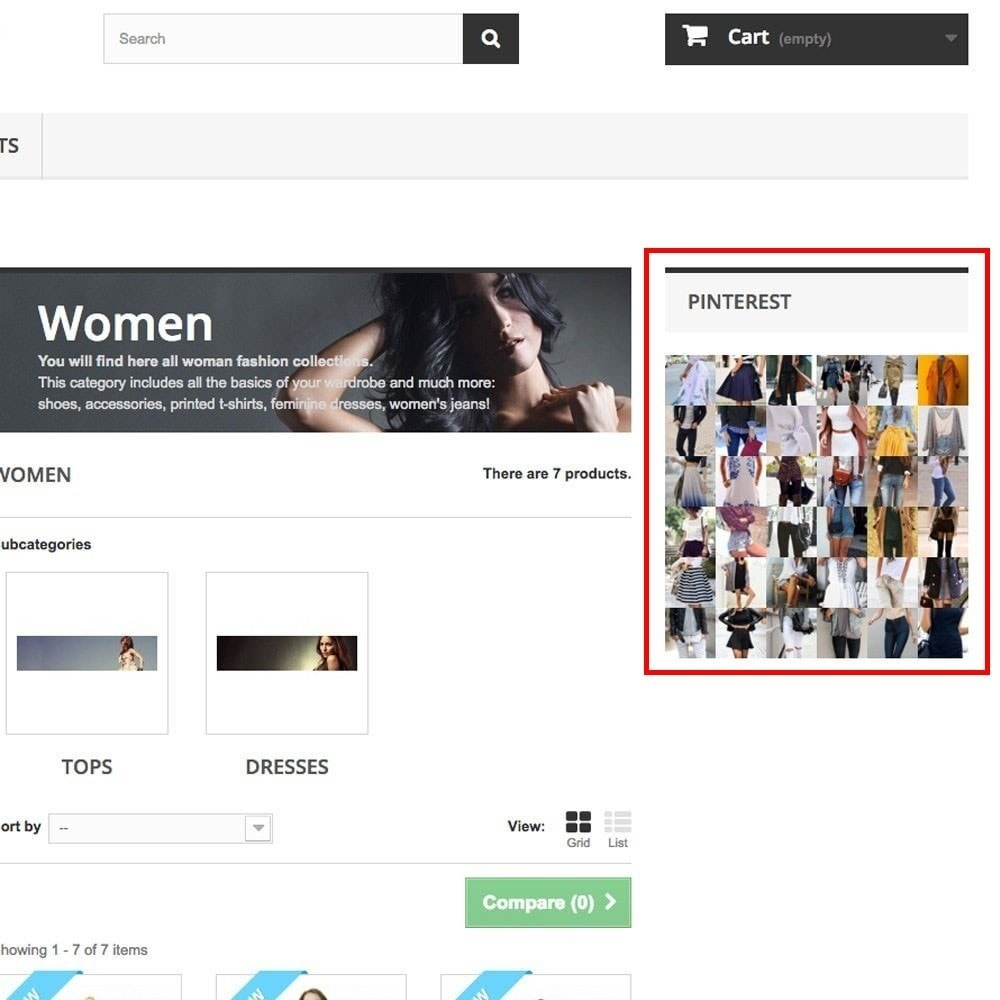 module - Widgets para redes sociales - Pinterest Images Feed - 8