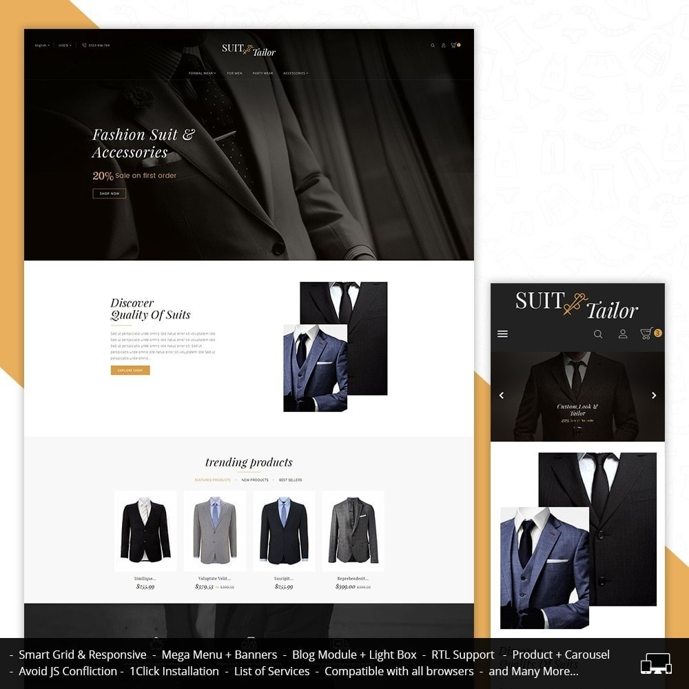theme - Fashion & Shoes - Suit/Tailor Store - 1