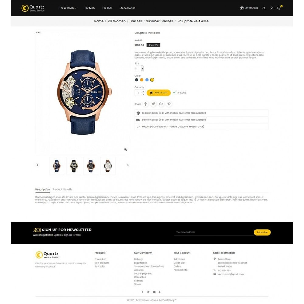 theme - Jewelry & Accessories - Quartz Watch Store - 5