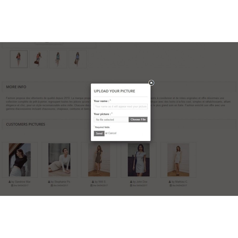 module - Visual dos produtos - Customers Pictures on your product pages - 2