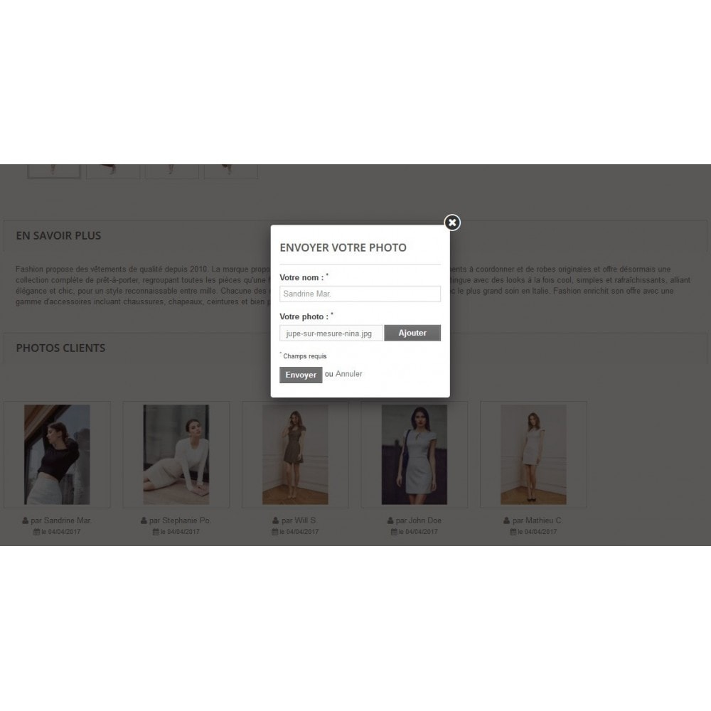 module - Visuels des produits - Photos Clients sur vos pages produit - 2