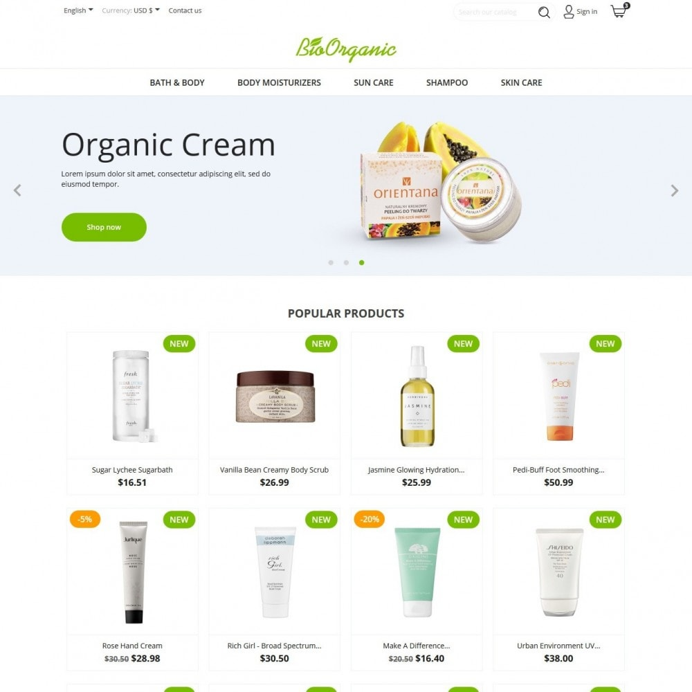 theme - Health & Beauty - BioOrganic - 2