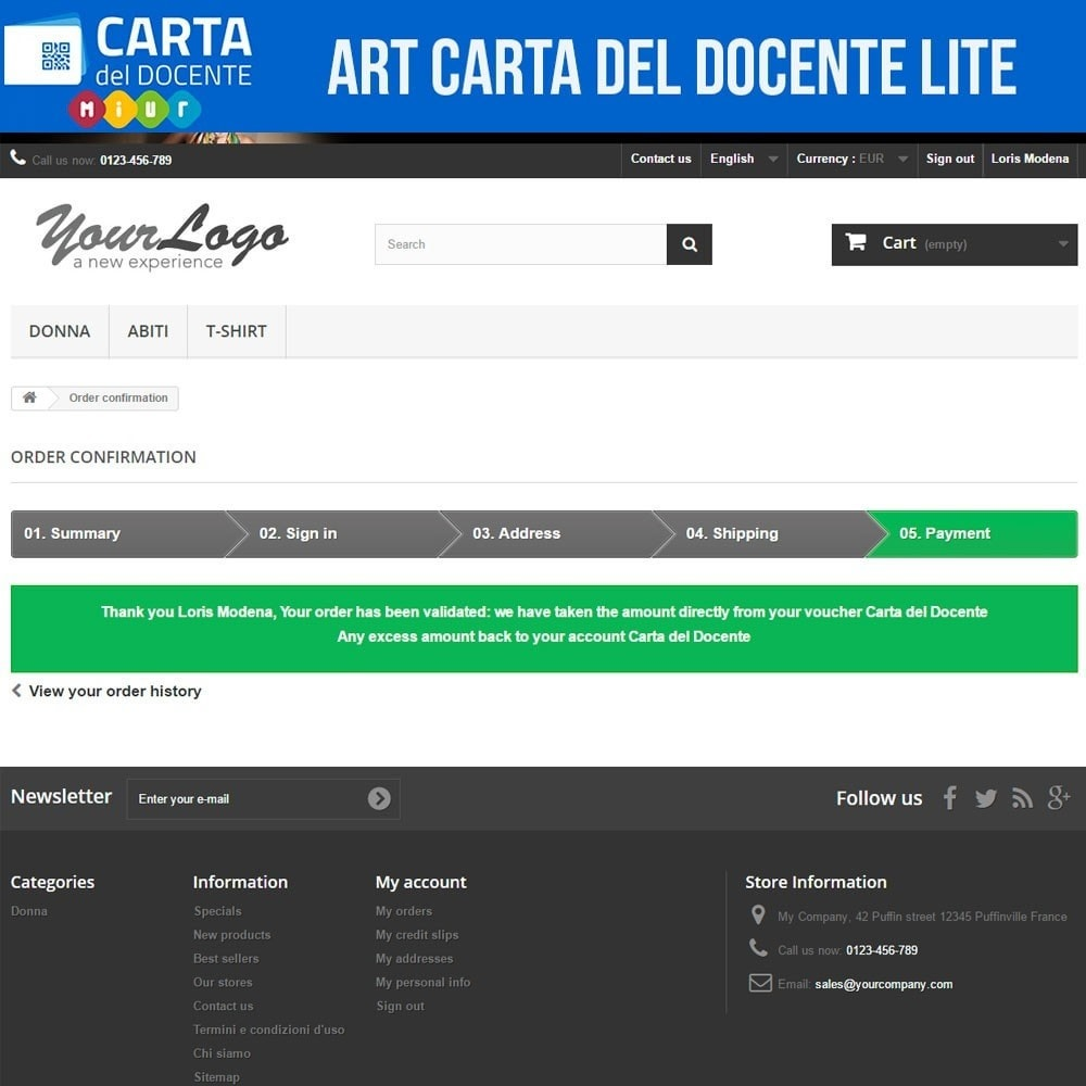 module - Other Payment Methods - Art POS GateWay Carta del Docente Light - 5