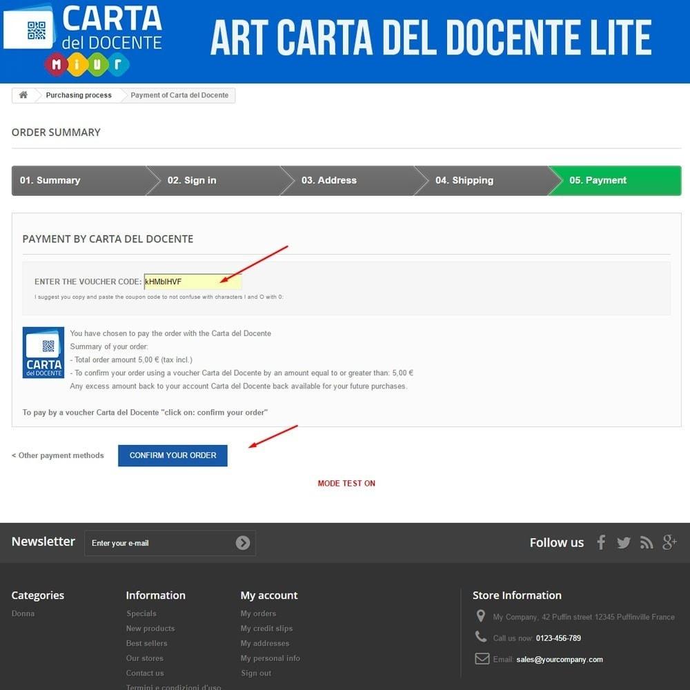 module - Altri Metodi di Pagamento - Art POS per Carta del Docente Light - 3
