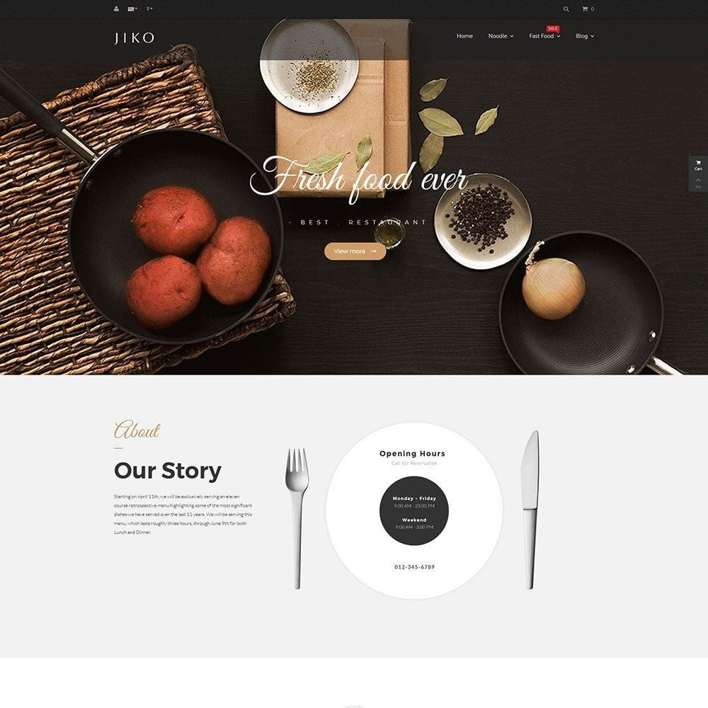 theme - Alimentation & Restauration - JiKo Food & Drink - 2