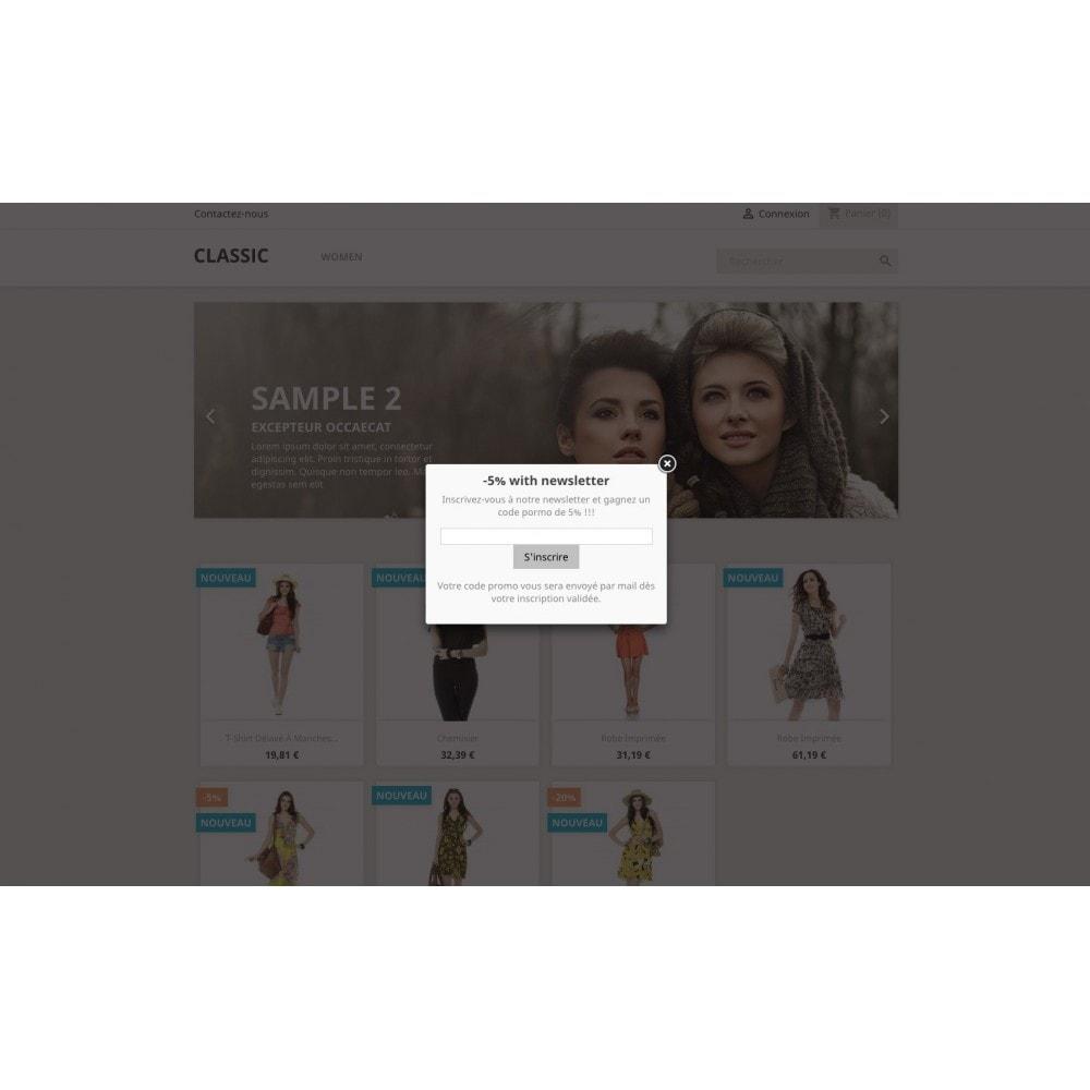 module - Produits sur Facebook & réseaux sociaux - Fenêtre pop-up: HTML et réseau social - 2