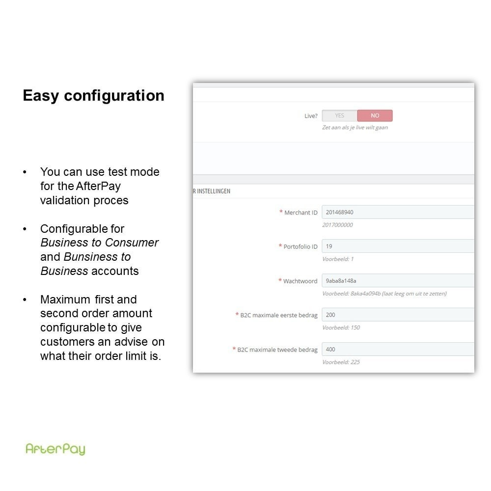 module - Otros métodos de pago - AfterPay: Order now, pay later - 3