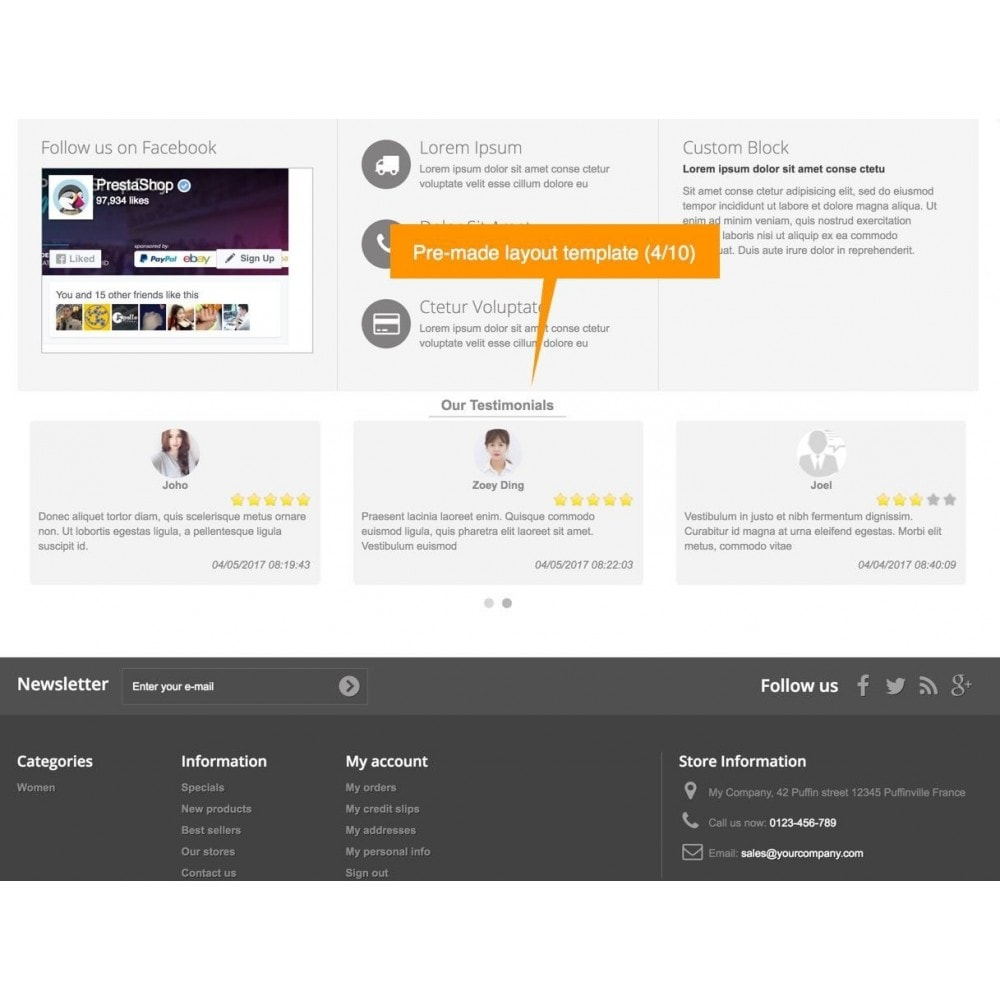 module - Recensioni clienti - Testimonials and Shop Reviews Pro - 6