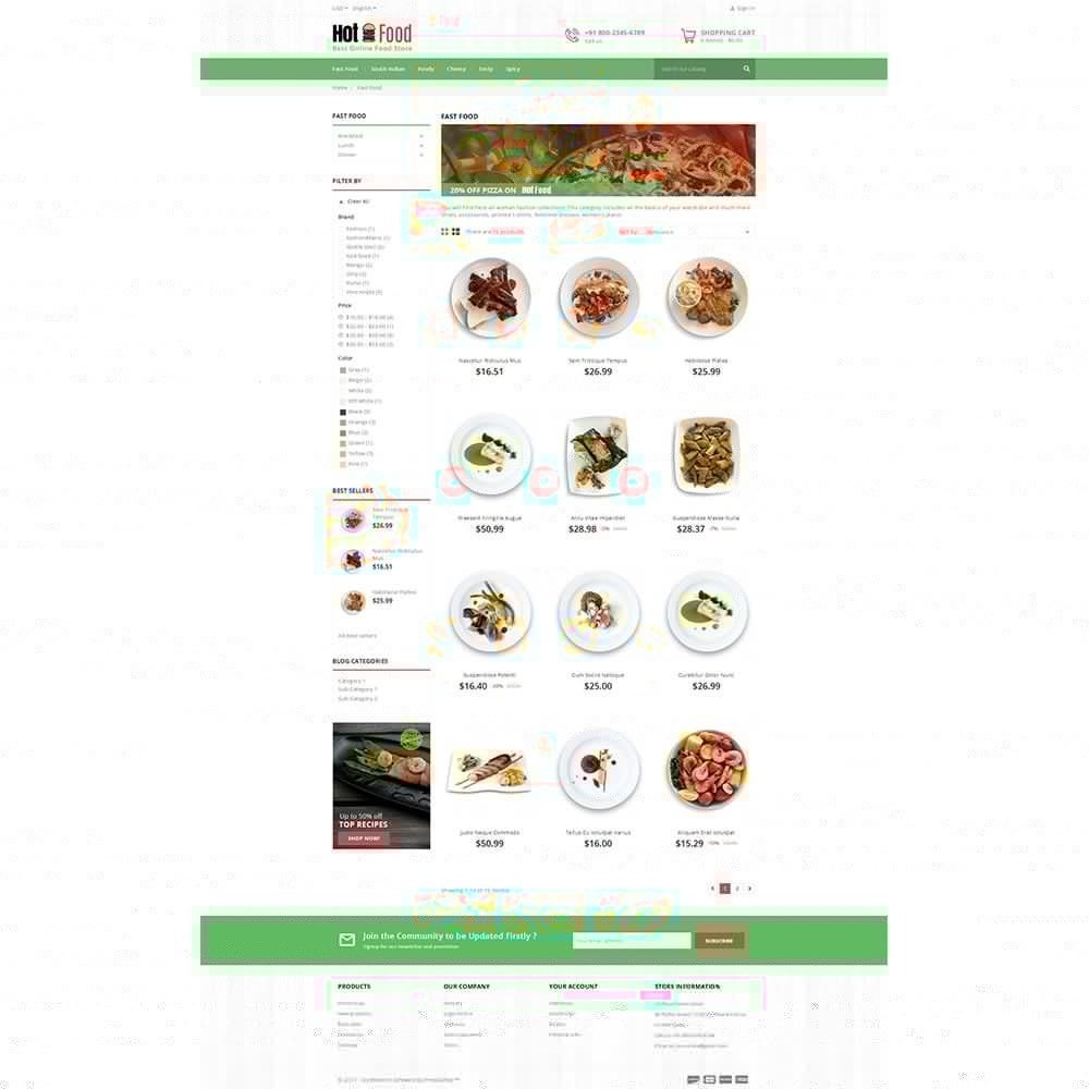 theme - Lebensmittel & Restaurants - Hotfood Demo Store - 3