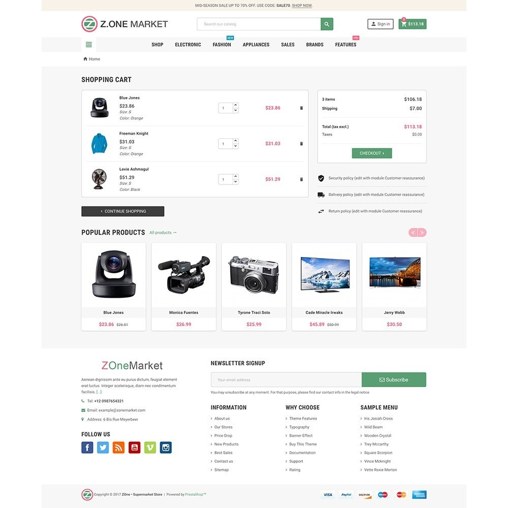 theme - Elektronik & High Tech - ZOne - Supermarket Online Shop - 7