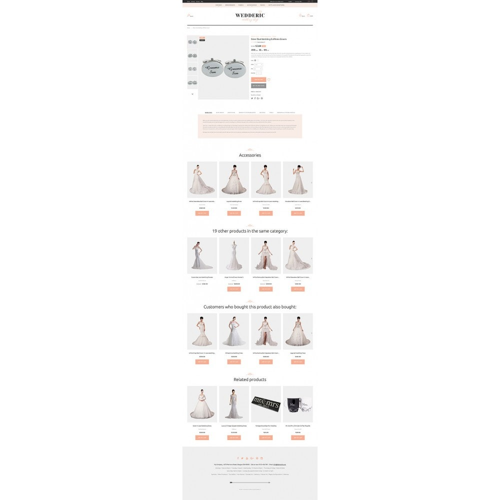 theme - Mode & Chaussures - Wedderic - Wedding Shop Responsive - 2