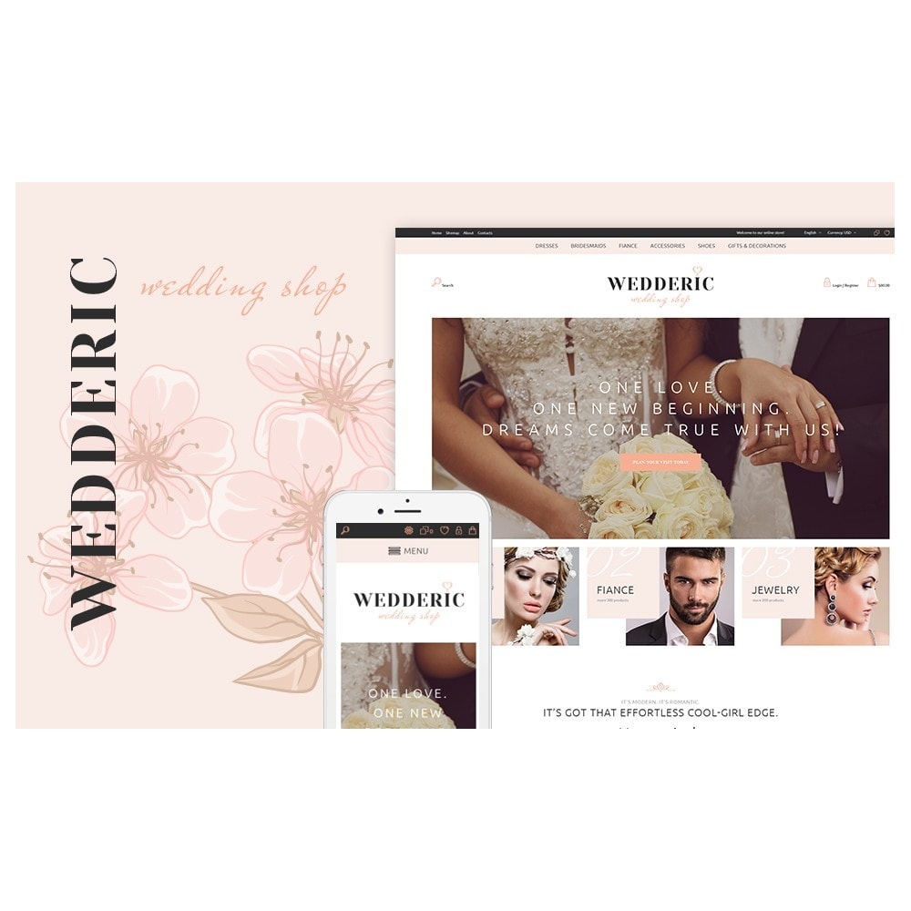 theme - Mode & Chaussures - Wedderic - Wedding Shop Responsive - 7