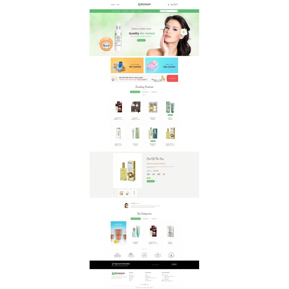 theme - Zdrowie & Uroda - Bio Cosmetics Store - 2