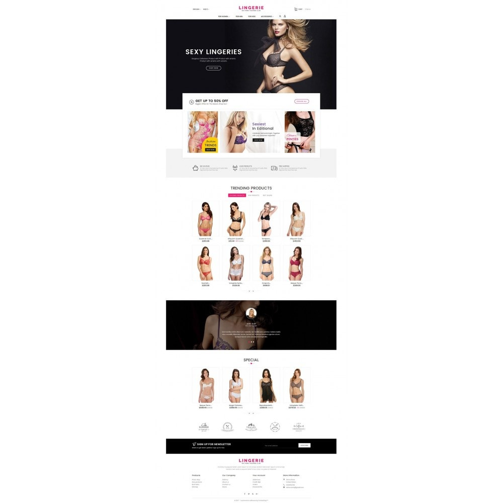 theme - Lingerie & Adultos - Lingerie Shop - 2