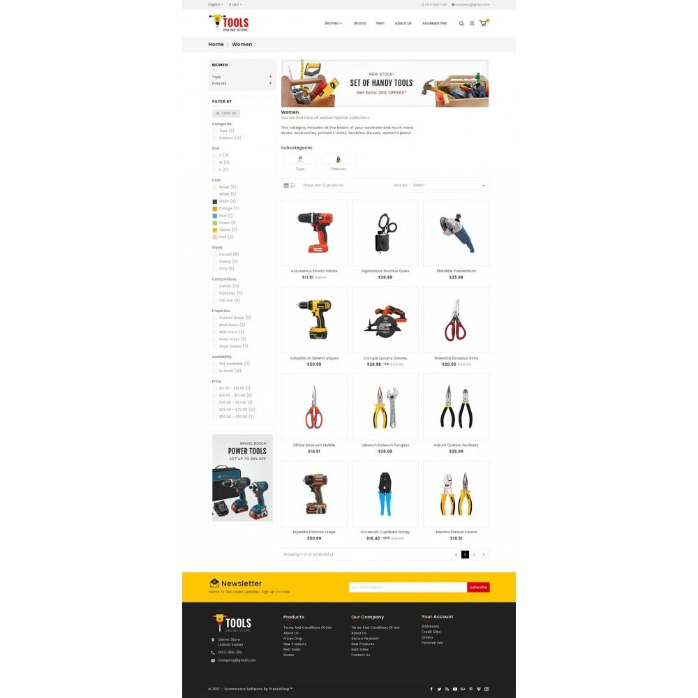 theme - Automotive & Cars - Tools Store - 3