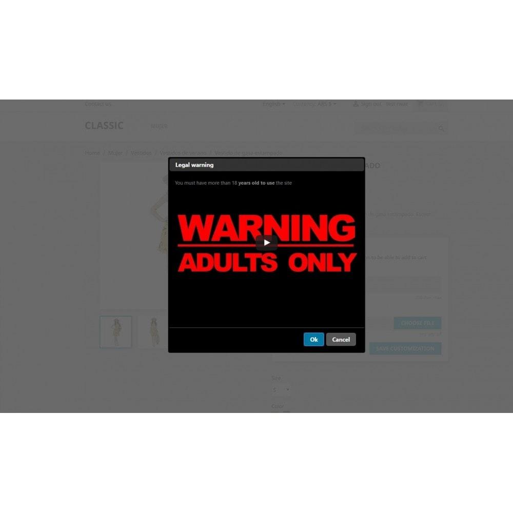 module - Sécurité & Accès - Legal Warning - Terms popup or adults site - 3