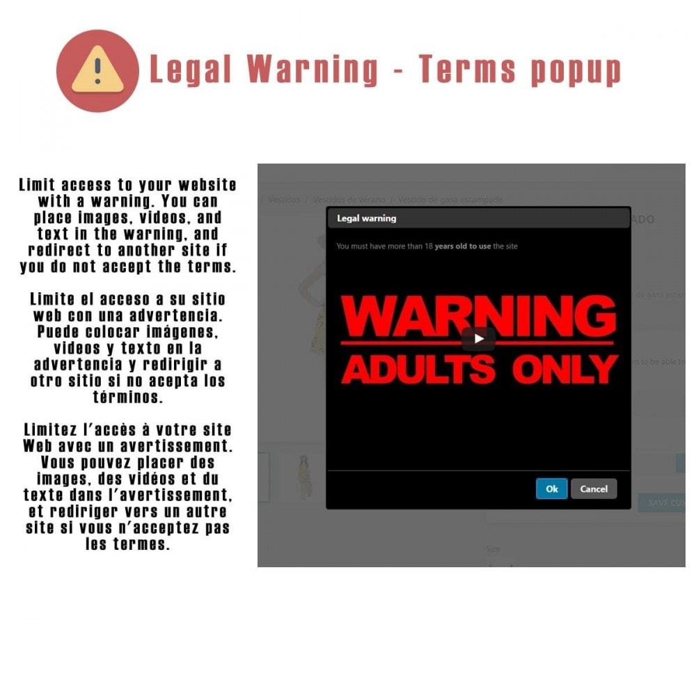 module - Seguridad y Accesos - Legal Warning - Terms popup - 1