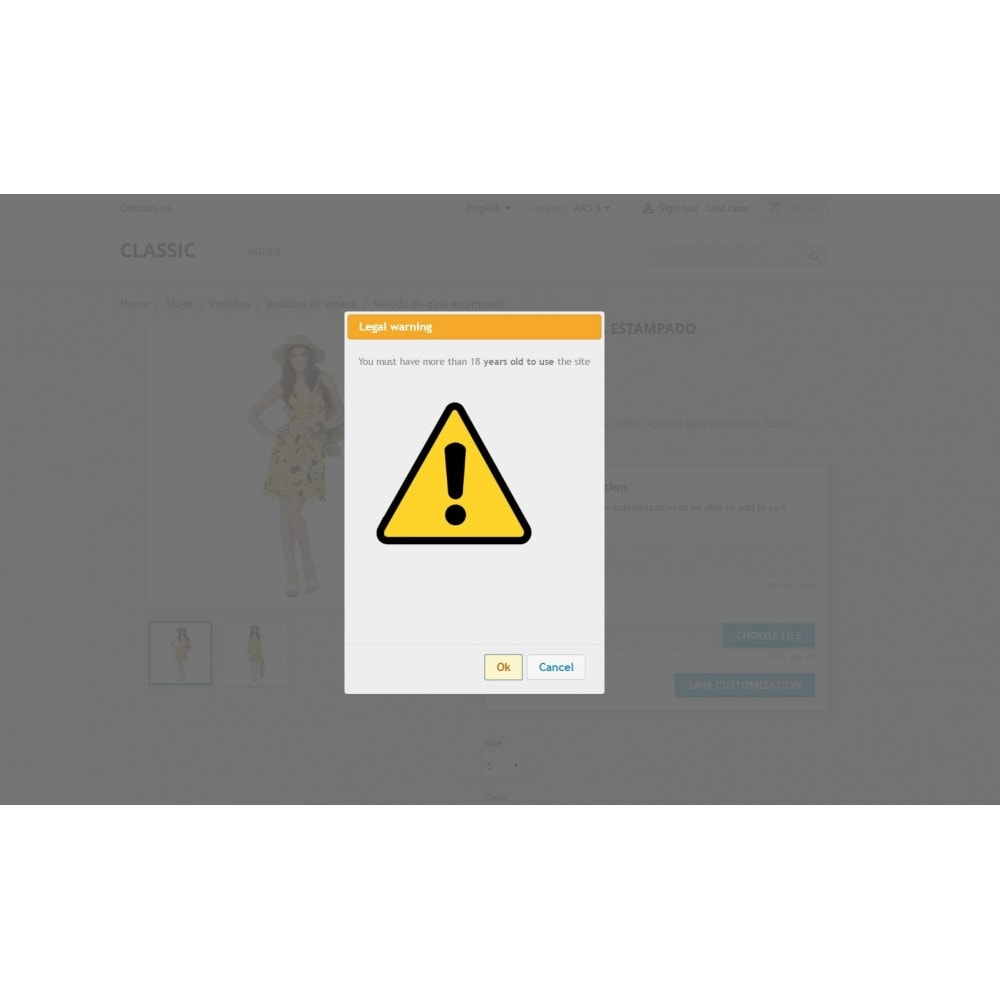 module - Seguridad y Accesos - Legal Warning - Terms popup - 3