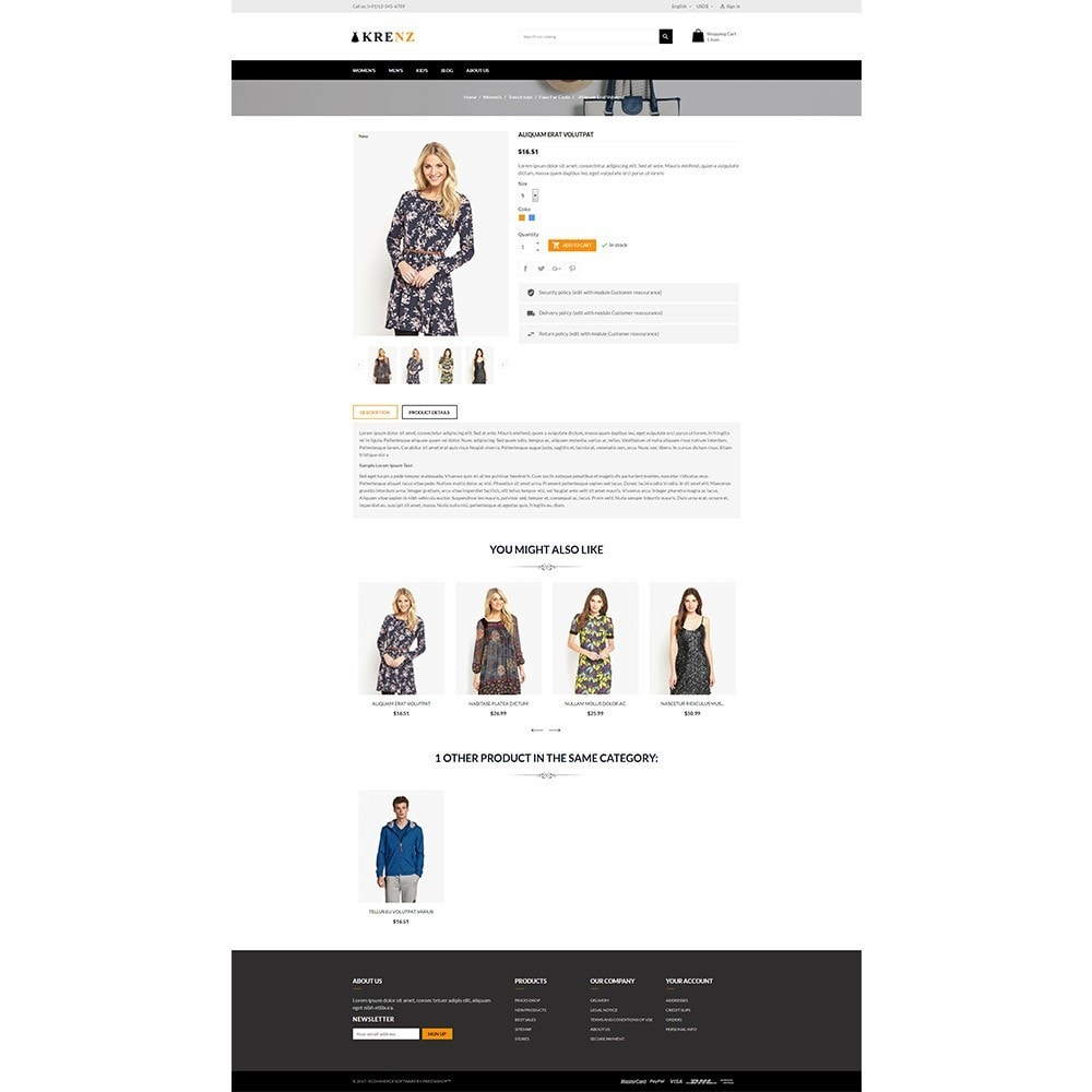 theme - Fashion & Shoes - Krenz - Fashion Store - 5