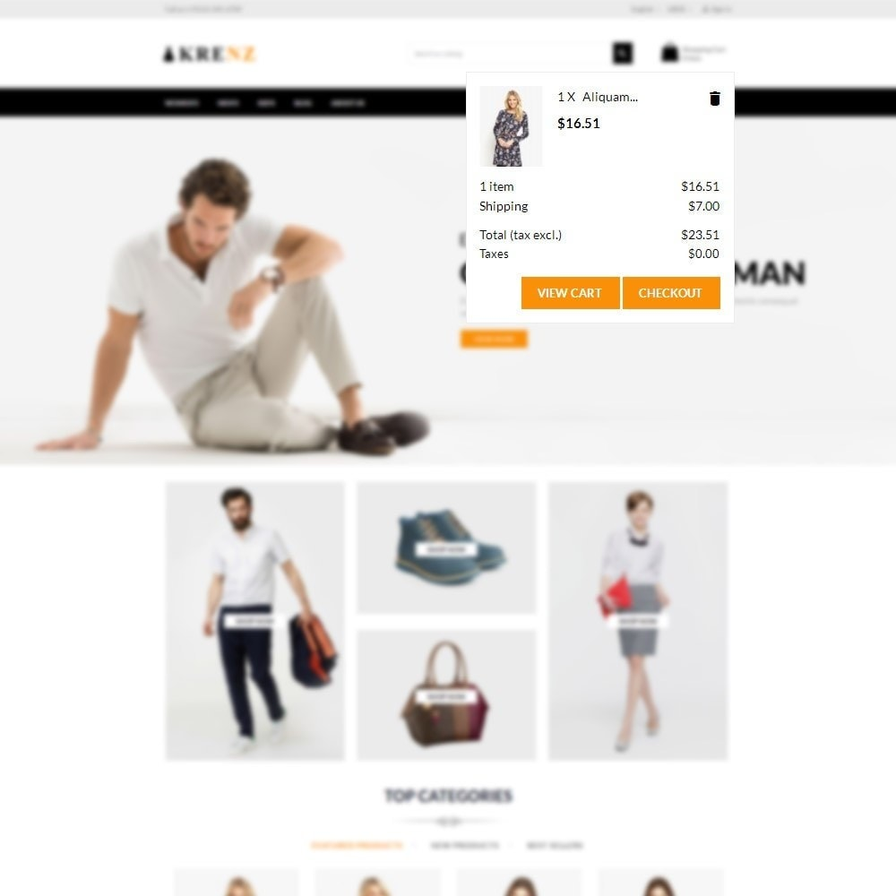 theme - Fashion & Shoes - Krenz - Fashion Store - 8