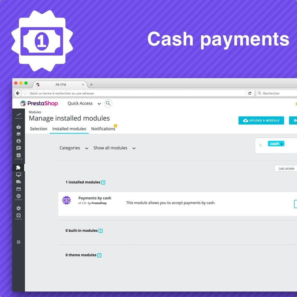 module - Payment in Physical Stores - Cash payment - 4